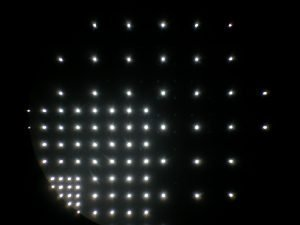 Hole array in stainless steel using an infrared laser