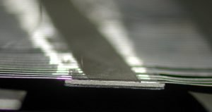 laser soldered leads onto a ceramic substrate