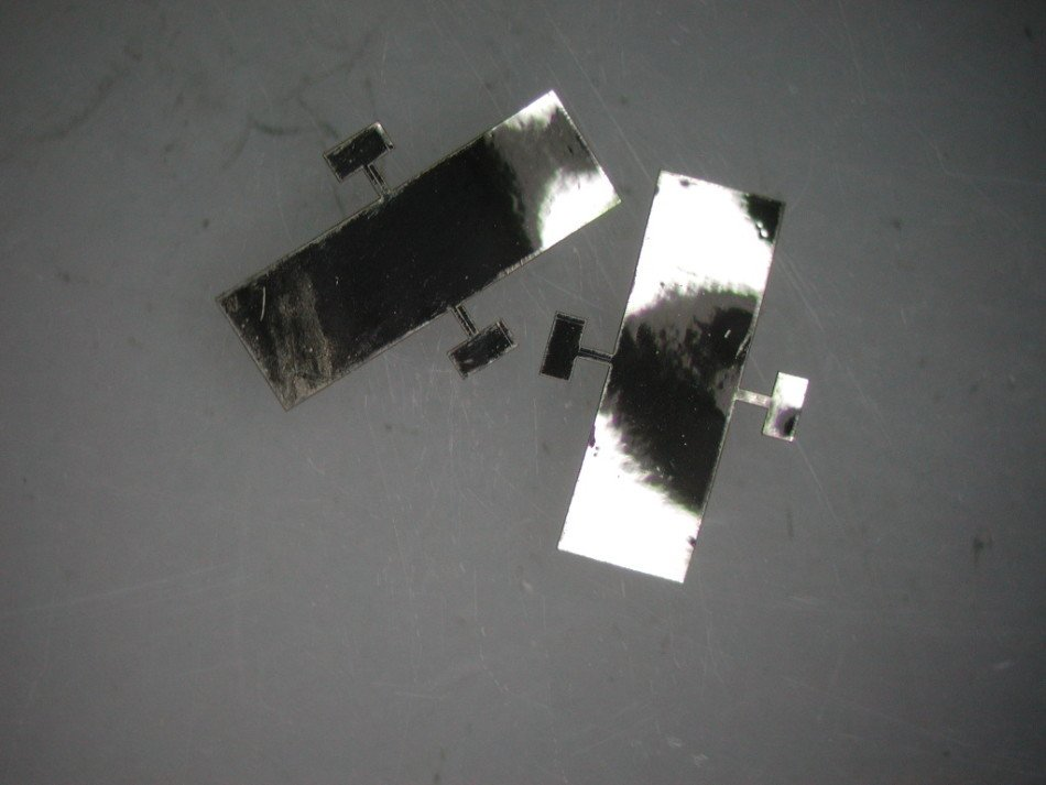 The tabs on this sensor are joined to the main body with 75 µm wide struts.