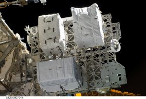 The Express Logitics Carrier, installed on the International Space Station. In space. Cool.