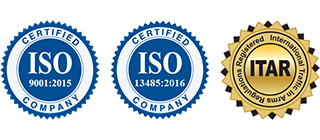 PMF is ISO 9001: 2015 and ITAR registeredISO 13485: 2016 certified &